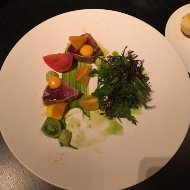 Bonito Salad with spring vegetables