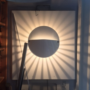 Lamp shade inspired by portable water cup found in a fishmonger's