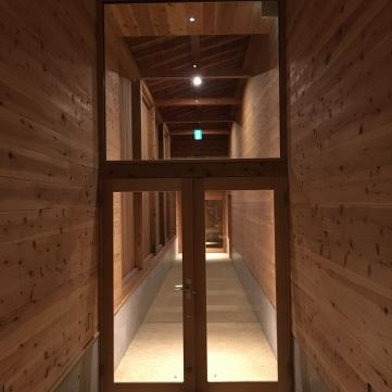 Corridor into annex onsen