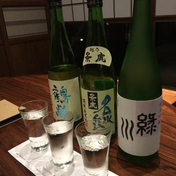 Niigata sake flight