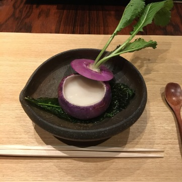 Red turnip soup