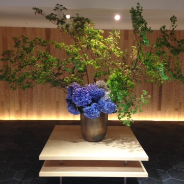 Wistera Ikebana in late May
