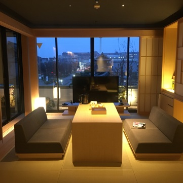 Tatami living area in Kanra Suite